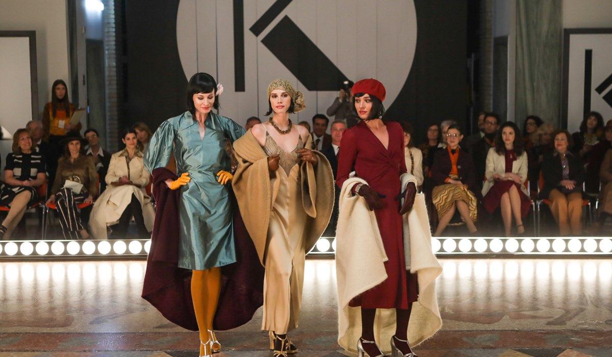 Una Scena di Made In Italy con le modelle al Krizia Fashion Show. Credits: Mediaset