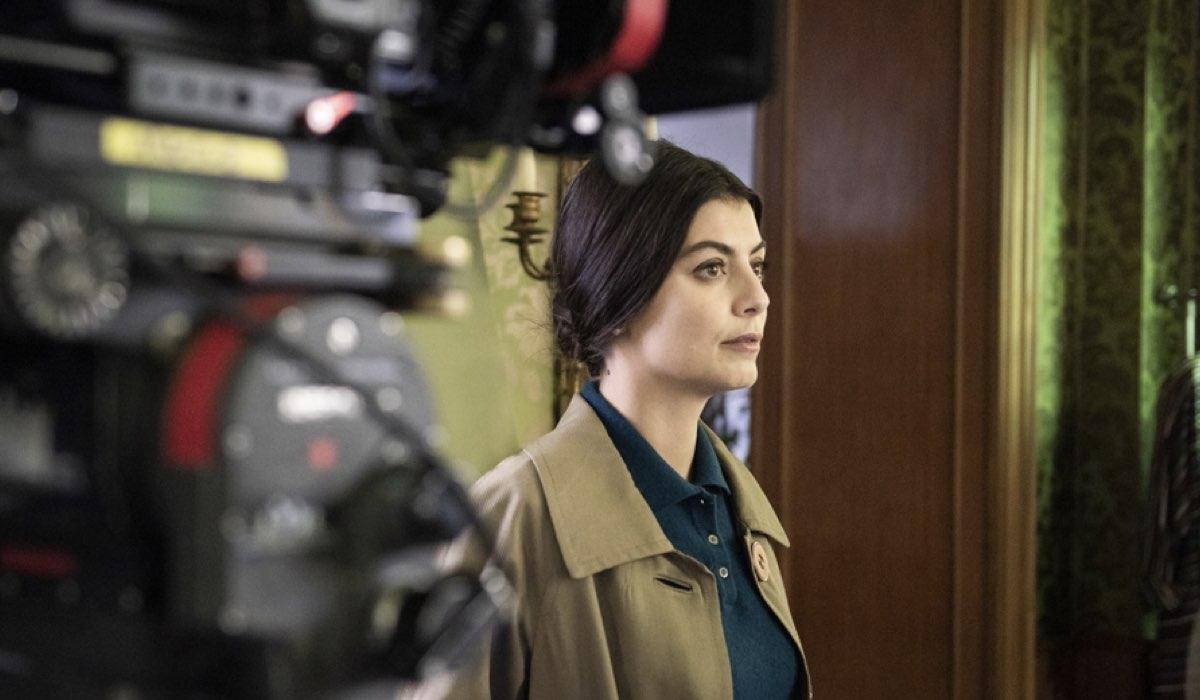Alessandra Mastronardi Durante Le Riprese Della Fiction Carla Credits Rai E Anele