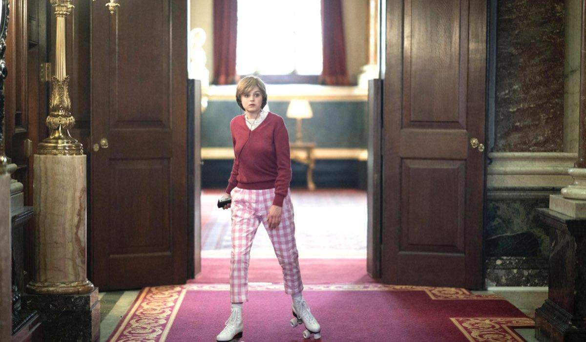 Diana (Emma Corrin) in una scena di The Crown. Credits: Des Willie/Netflix.