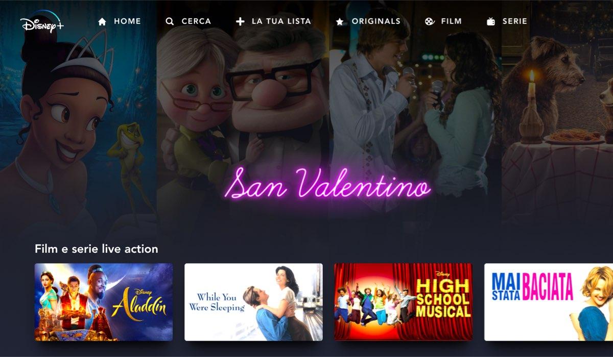 disney plus film san valentino collezione