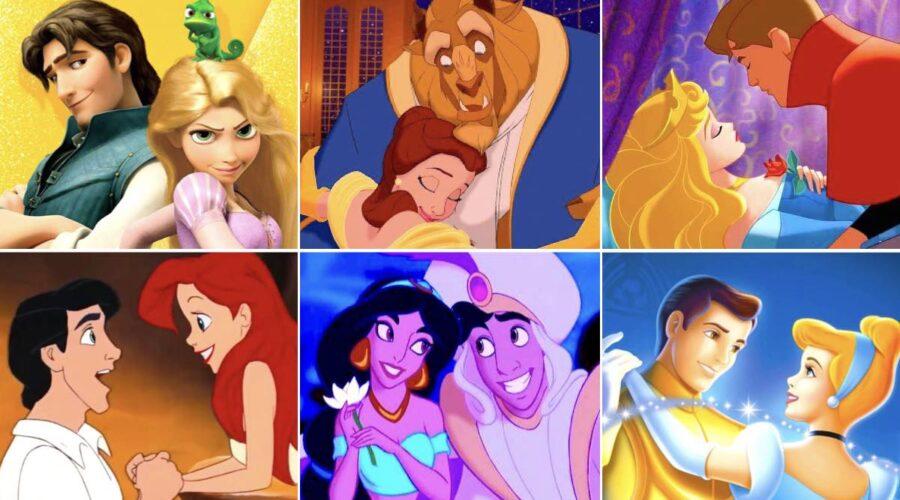 Film Disney Rapunzel, La Bella E La Bestia, La Bella Addormentata Nel Bosco, La Sirenetta, Aladdin E Cenerentola. Credits: Walt Disney Pictures