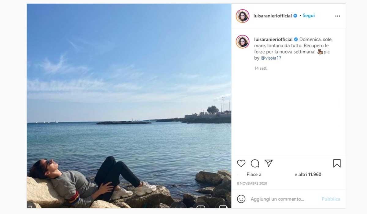Foto condivisa sul profilo Instagram Ufficiale di Luisa Ranieri.