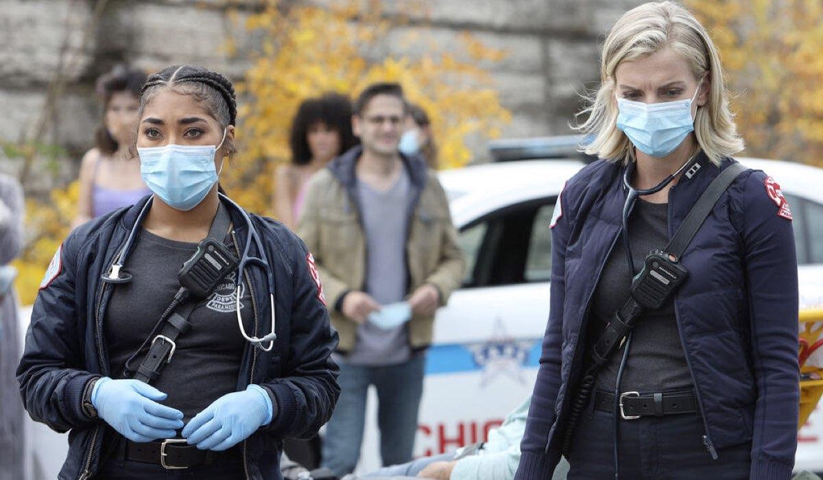 Gianna Mackey e Sylvie Brett In Chicago Fire 9. Credits: Mediaset