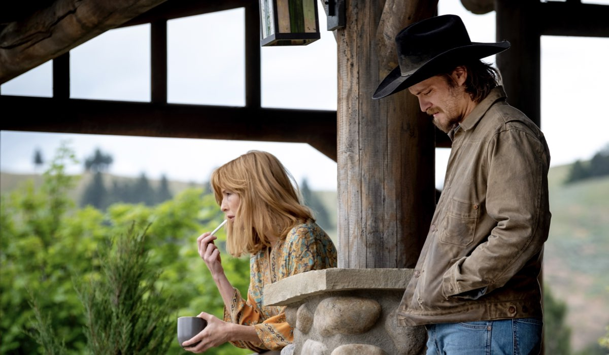 Luke Grimes e Kelly Reilly interpretano Kayce e Beth In Yellowstone 3 Stagione. Credits: Sky Italia