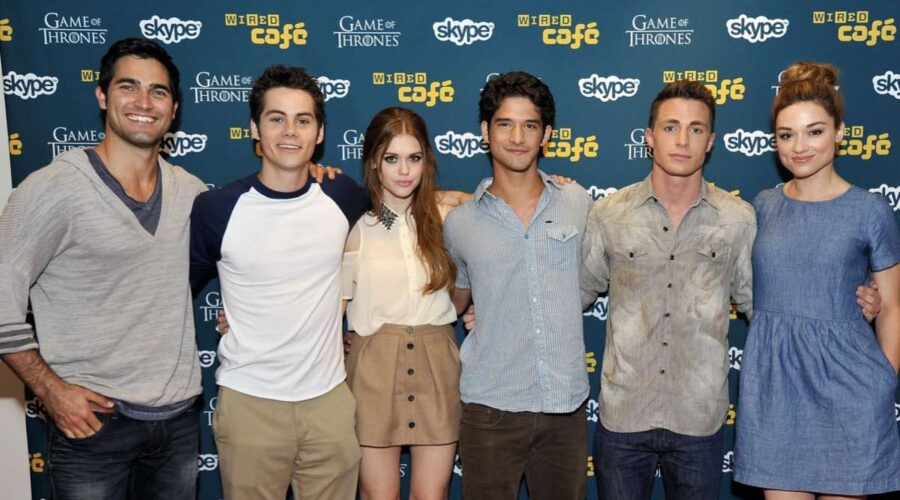 Tyler Hoechlin, Dylan O'Brien, Holland Roden, Tyler Posey, Colton Haynes e Crystal Reed. Credits: foto di Jerod Harris e Getty Images per WIRED