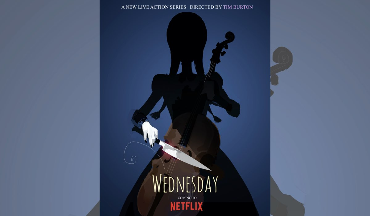 Poster di Wednesday. Credits: Netflix.