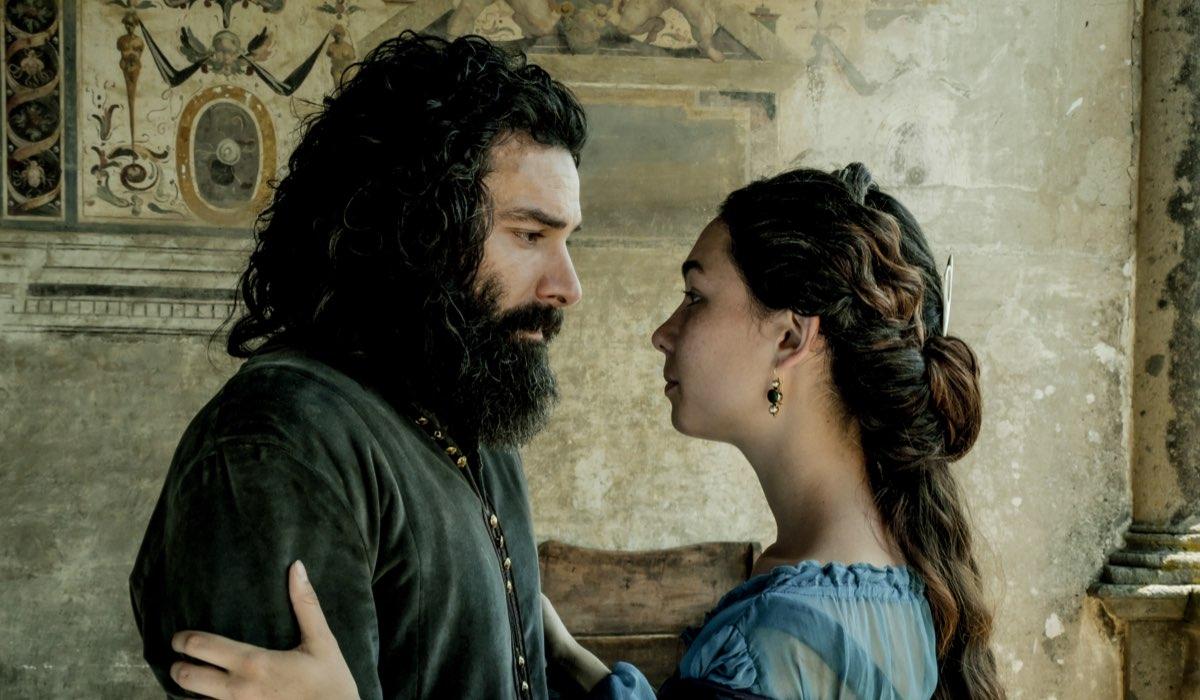 Aidan Turner e Matilda De Angelis nella fiction Leonardo. Credits: Fabio Lovino e Rai