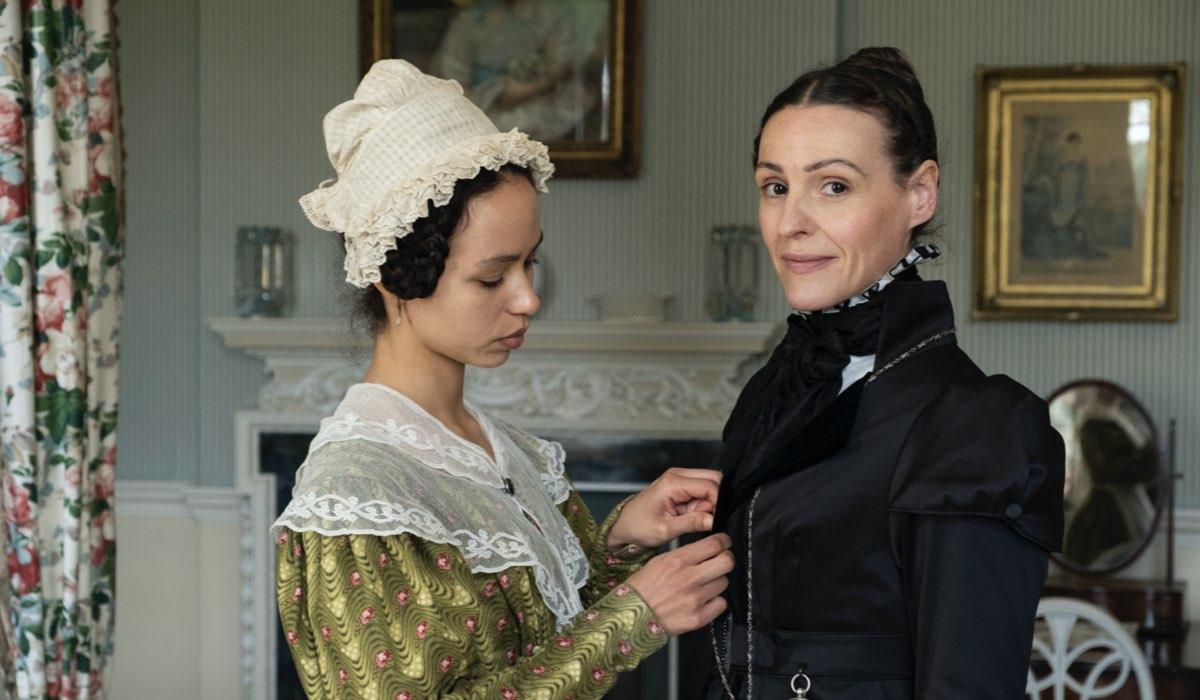 Da sinistra: Albane Courtois e Suranne Jones in una scena di Gentleman Jack. Credits: LaF.