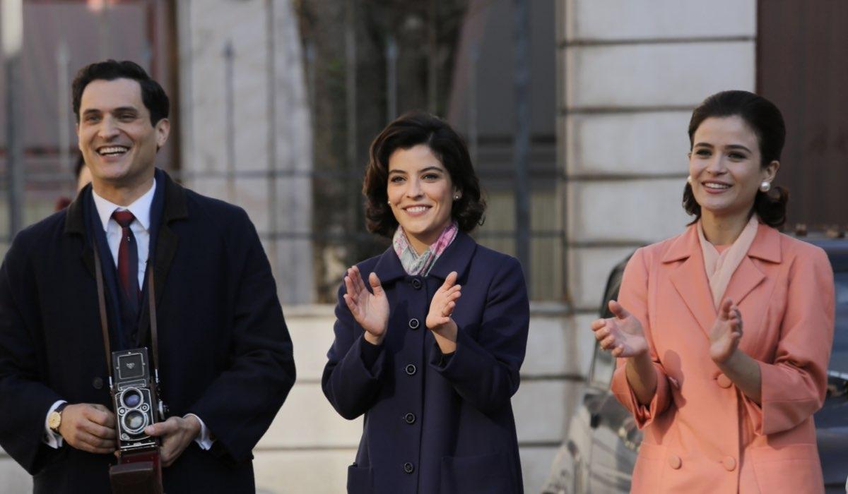 Alessandro Tersigni, Caterina Bertone e Ilaria Rossi in una scena de Il Paradiso Delle Signore 5 Credits P. Bruni e Rai