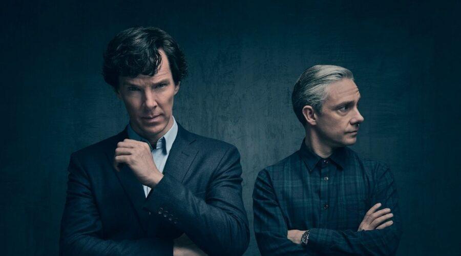 Benedict Cumberbatch e Martin Freeman in Sherlock. Credits: Spike.