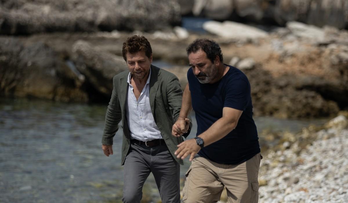 Claudio Gioè e Domenico Centamore In Màkari Credits: Floriana Di Carlo/Rai