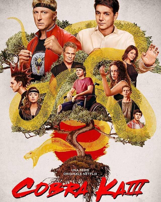 La locandina di Cobra Kai. Credits: Netflix.