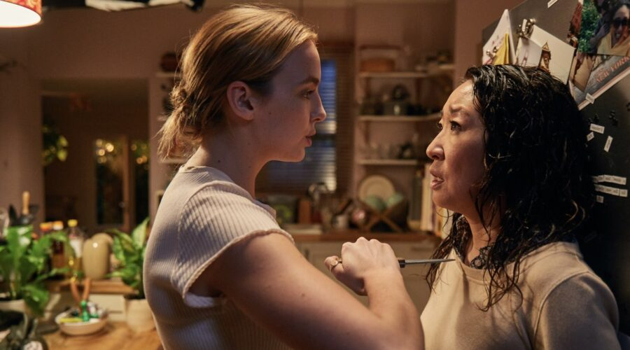 Jodie Comer e Sandra Oh in Killing Eve. Credits: Timvision.