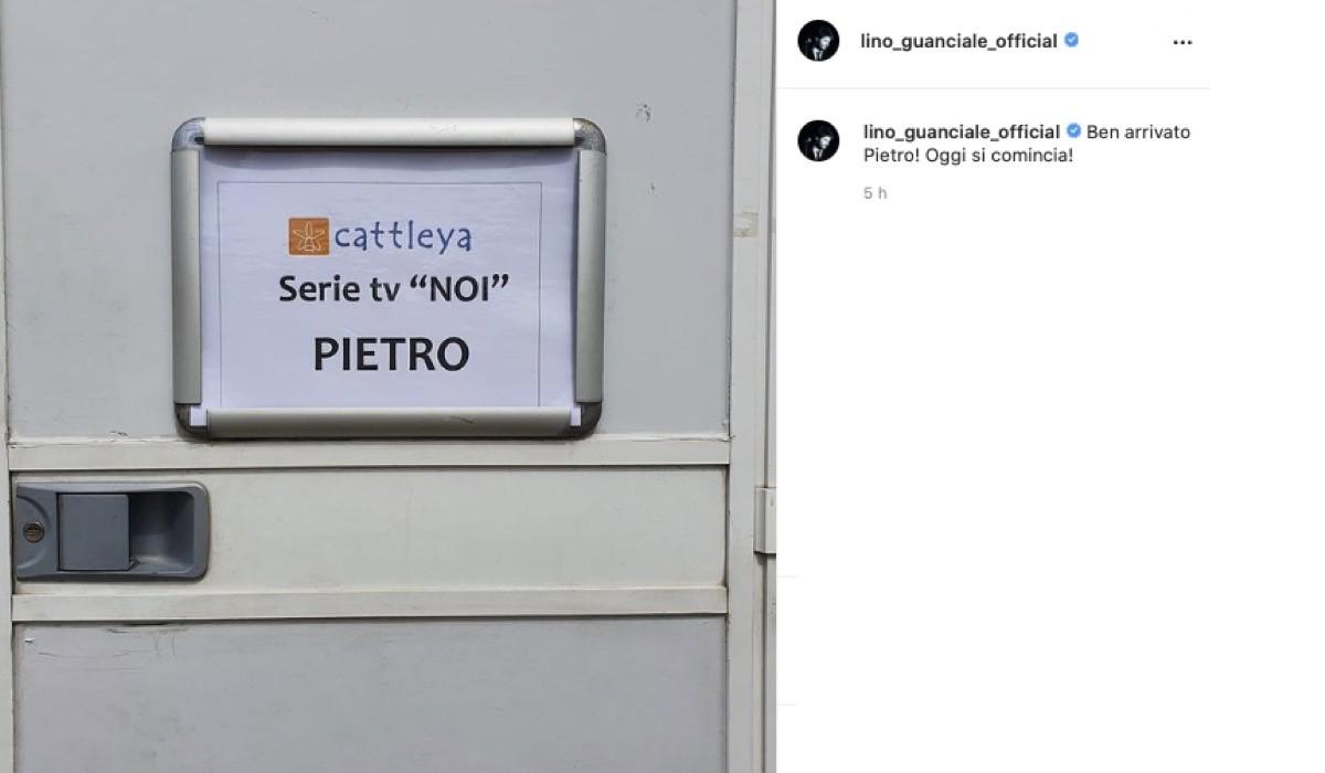 Lino Guanciale Annuncia Le Riprese Di Noi. Credits: Instagram Via @lino_guanciale_official