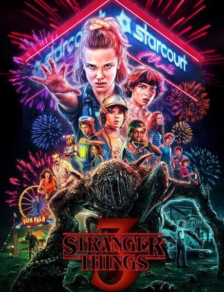 La locandina della serie TV Stranger Things. Credits: Netflix.