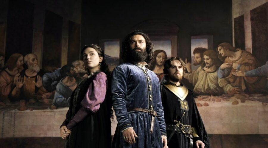 Matilda De Angelis, Aidan Turner e Freddie Highmore In Leonardo Credits: Fabio Lovino/Rai
