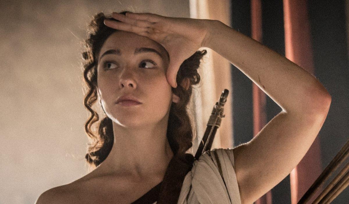 Matilda De Angelis in una scena di Leonardo. Credits: Angelo Turetta e Rai