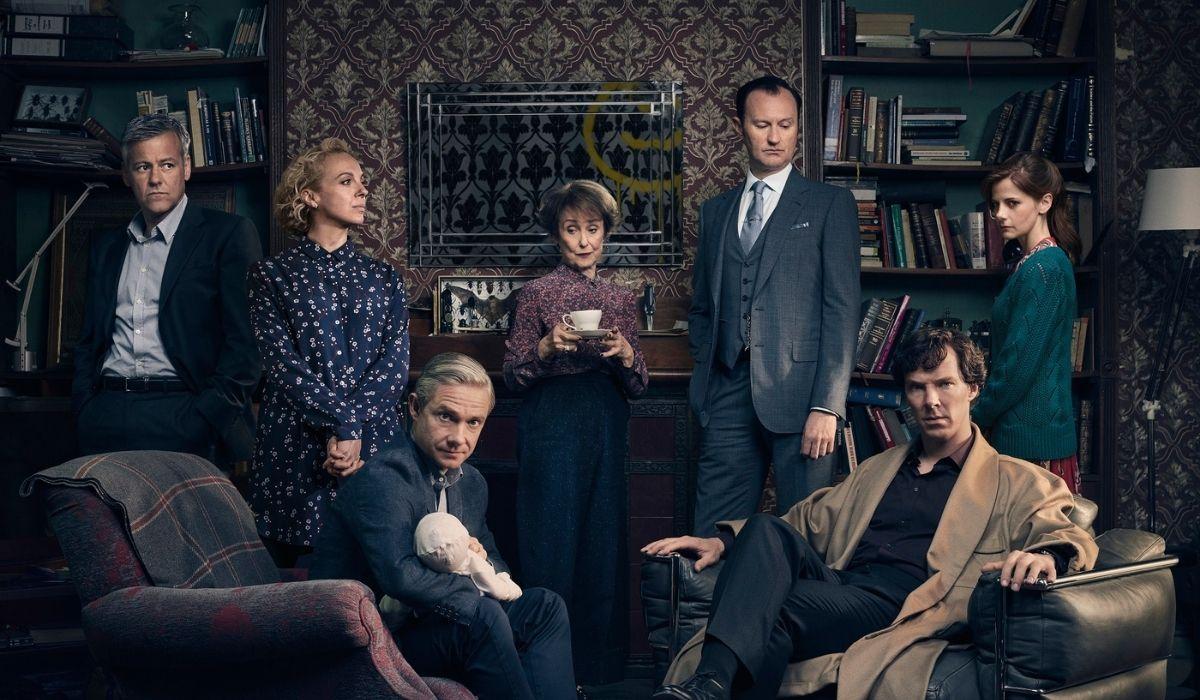 I protagonisti della quarta stagione di Sherlock. Credits: Spike.