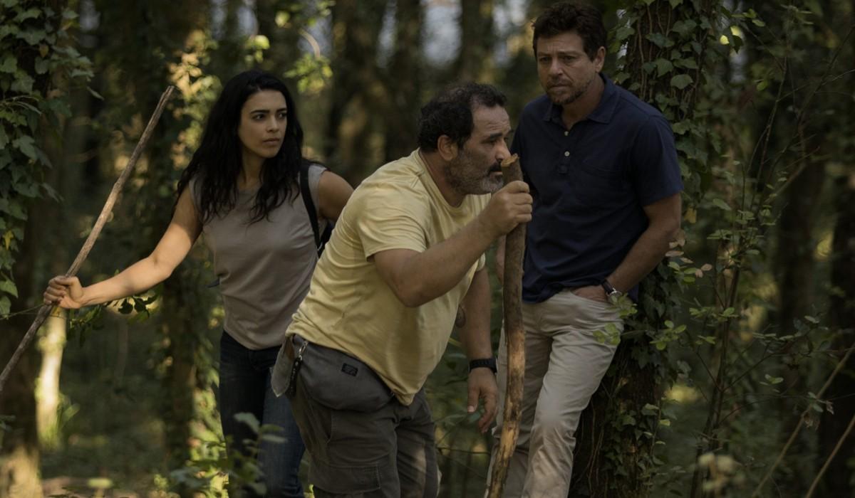 Suleima (Ester Pantano), Piccionello (Domenico Centamore) e Saverio (Claudio Gioè) In Màkari Credits: Floriana Di Carlo E Rai