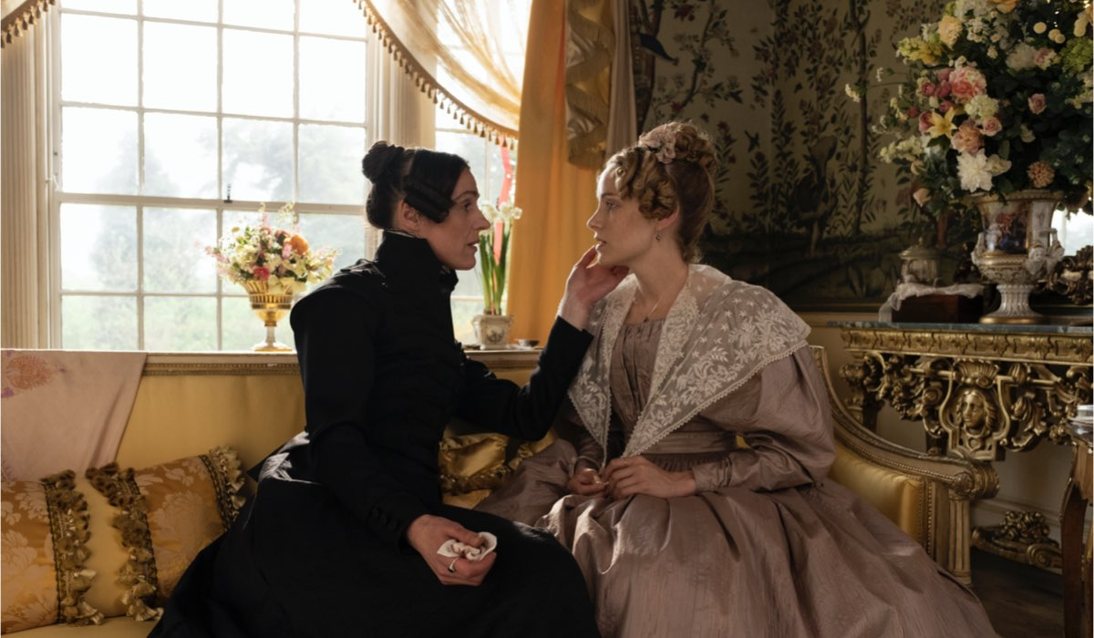 Da sinistra: Suranne Jones e Sophie Rundle in una scena di Gentleman Jack. Credits: LaF.