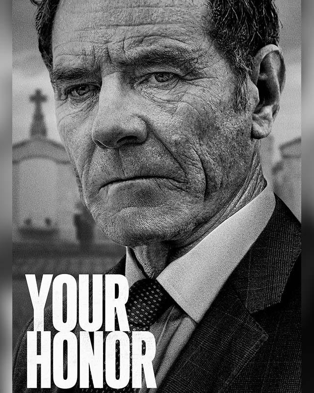 La copertina di Your Honor con il giudice Michael Desiato (Bryan Cranston). Credits: Showtime.