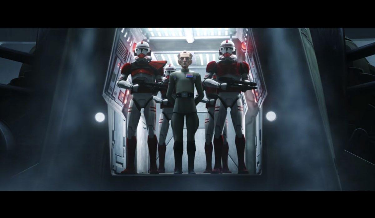 Il Grand Moff Tarkin è tra i nemici della Bad Batch. Credits: Lucasfilm/Disney.