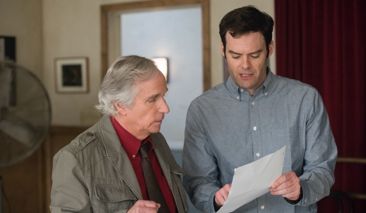 Henry Winkler (Gene) e Bill Harder (Barry) In Barry Credits Sky/hbo