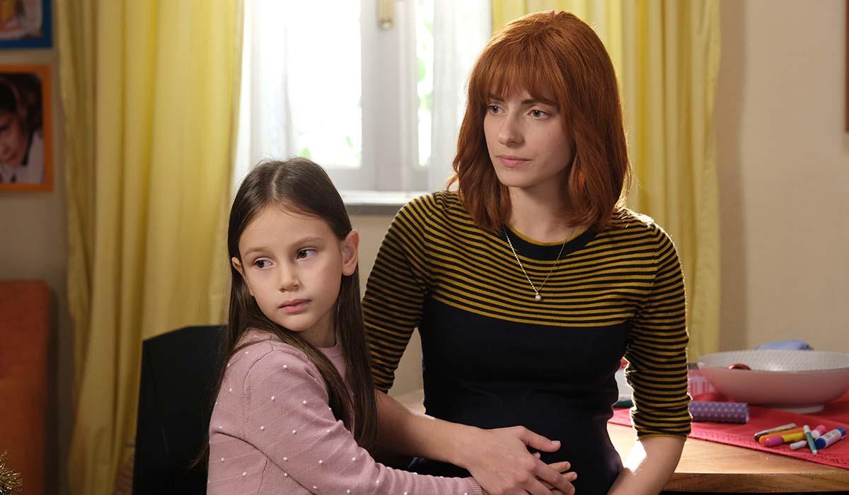 Maria Chiara Giannetta (Anna) nella fiction Buongiorno, Mamma. Credits: Mediaset.