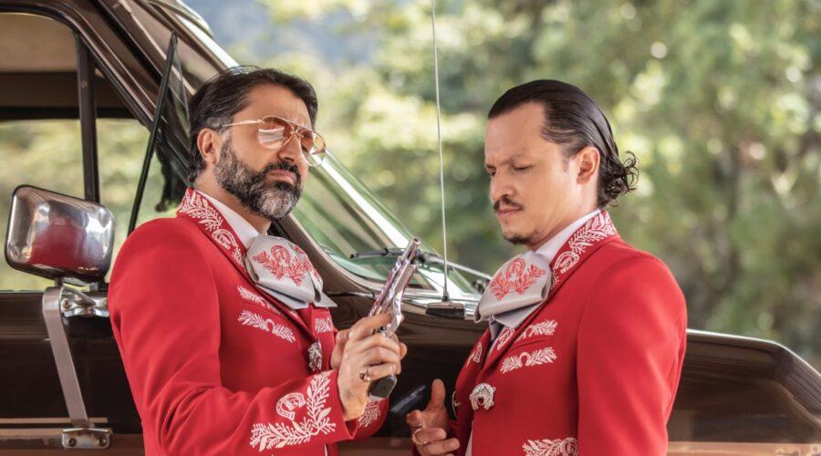 Jacques Toukhmanian ( Quiroz) e Biassini Segura (El Nato) Ne I Ciarlatani Credits: Mauro Gonzalez/Netflix