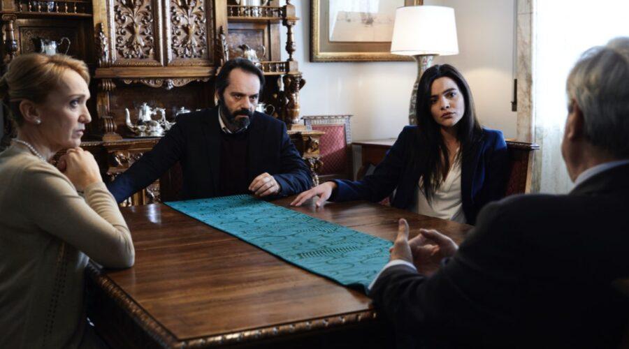 La Fuggitiva, qui Laura Mazzi, Sergio Romano, Pina Turco e Maurizio Marchetti Credits Rai