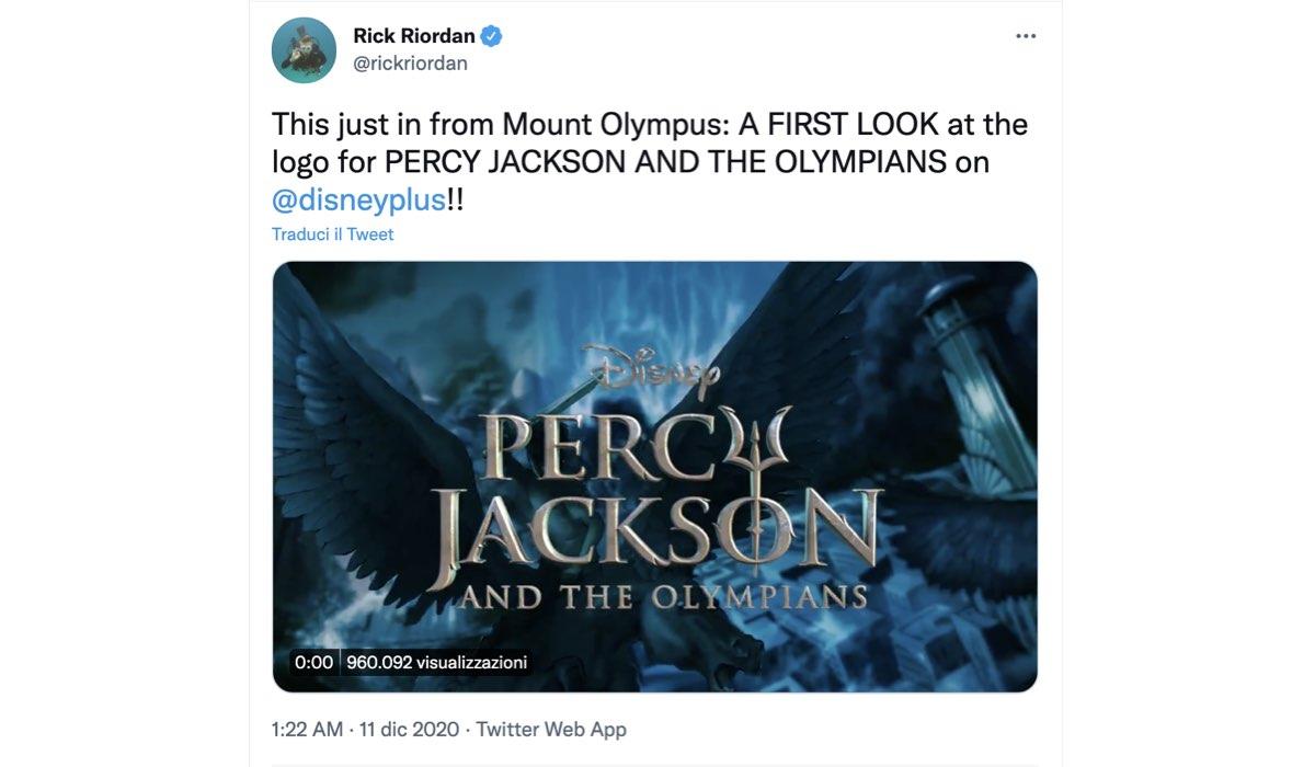 percy jackson first look twitter disney plus tweet