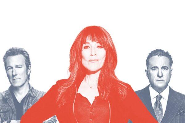 John Corbett, Katey Sagal e Andy Garcia nella serie tv Rebel. Credits: Star/Disney.