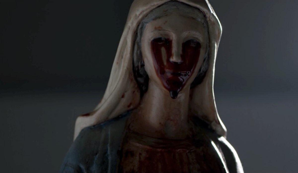 """La statua della Madonna al centro de """"Il Miracolo"""". Credits: Sky."""