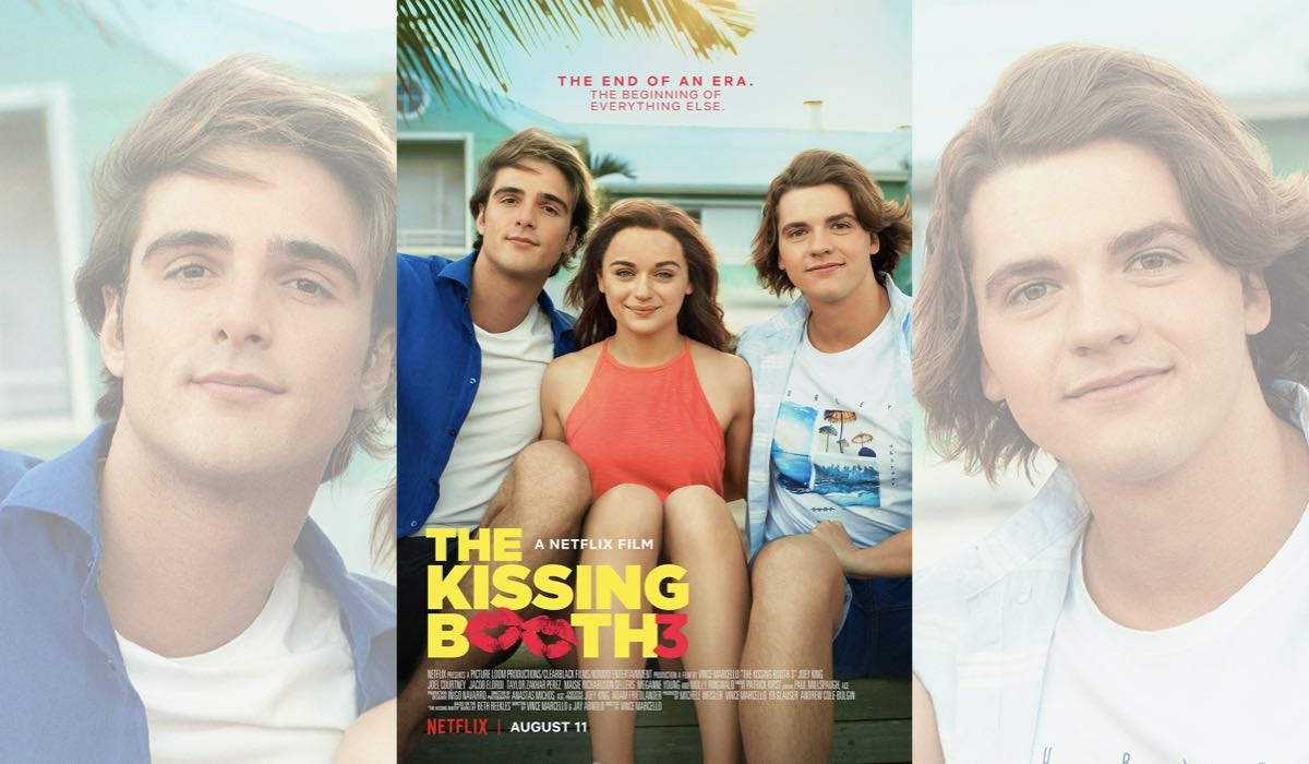 The Kissing Booth 3 Locandina Con Jacob Elordi (Noah), Joey King (Elle) e Joel Courtney (Lee). Credits: Netflix