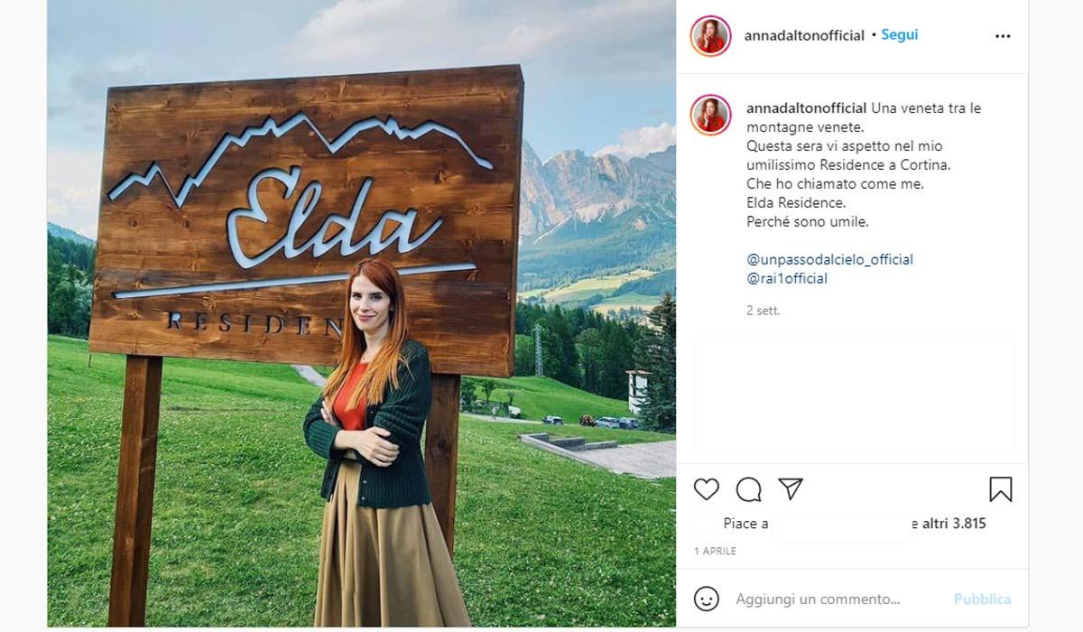 Anna Dalton sul set di Un passo dal cielo 6 - I guardiani. Credits: Instagram.