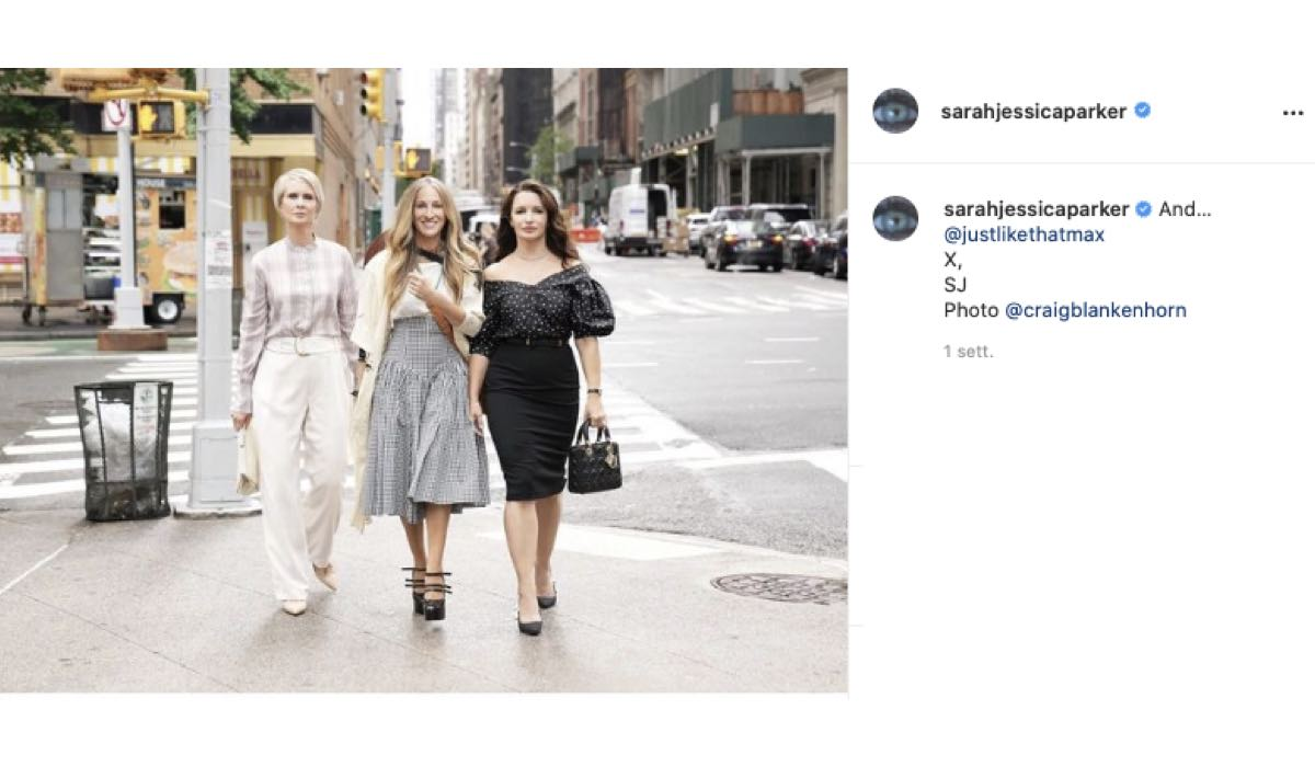 And Just Like That Revival Sex And The City Prima Foto. Credits: Instagram Via Profilo @sarahjessicaparker
