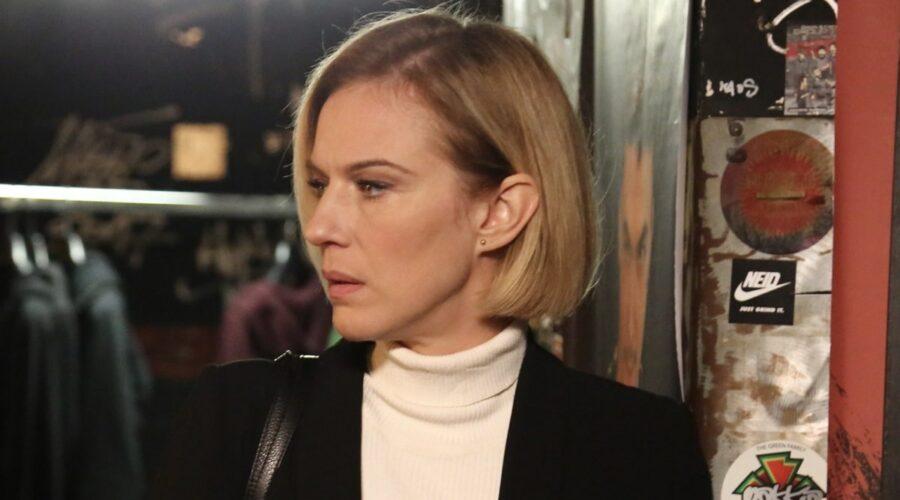 Antonia Liskova, qui in una scena de L'Allieva 3. Credits: P. Bruni e Rai