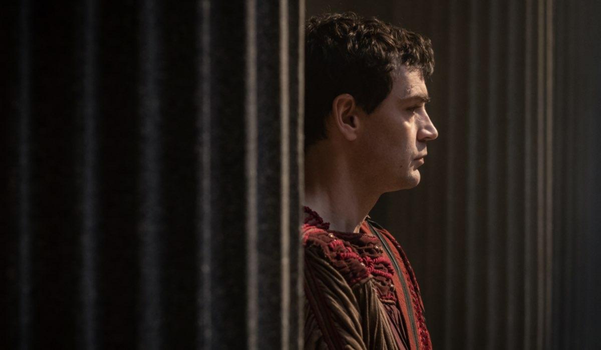 """Gaio Ottaviano (Matthew McNulty) nel quarto episodio di """"Domina"""". Credits: Sky."""