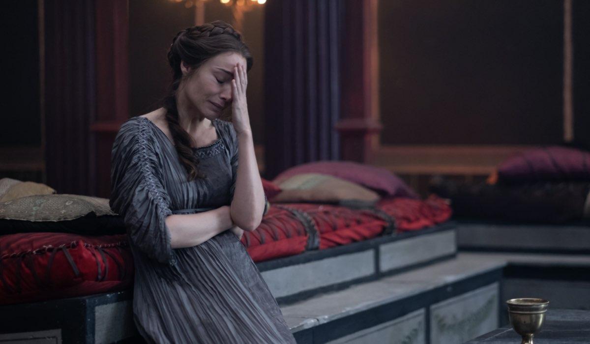 """Ottavia (Claire Forlani) nel quinto episodio di """"Domina"""". Credits: Sky."""