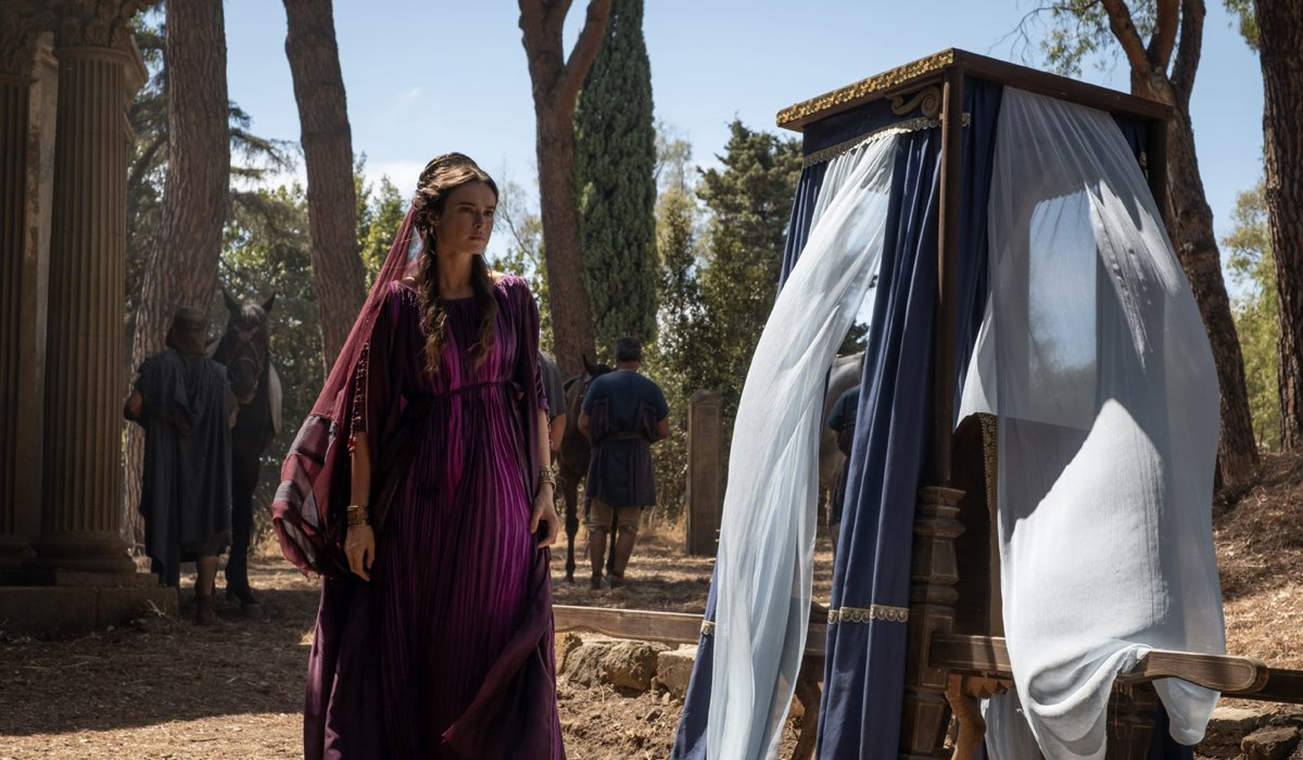 Livia Drusilla (Kasia Smutniak) in una scena dell'ottavo episodio. Credits: Sky.