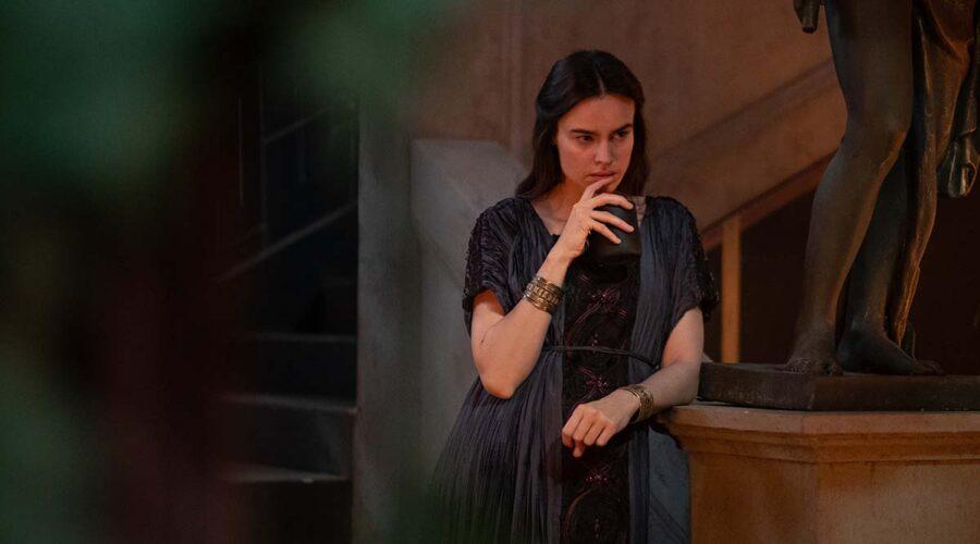 Livia Drusilla (Kasia Smutniak) nella serie TV Domina. Credits: Sky/Antonello & Montesi.
