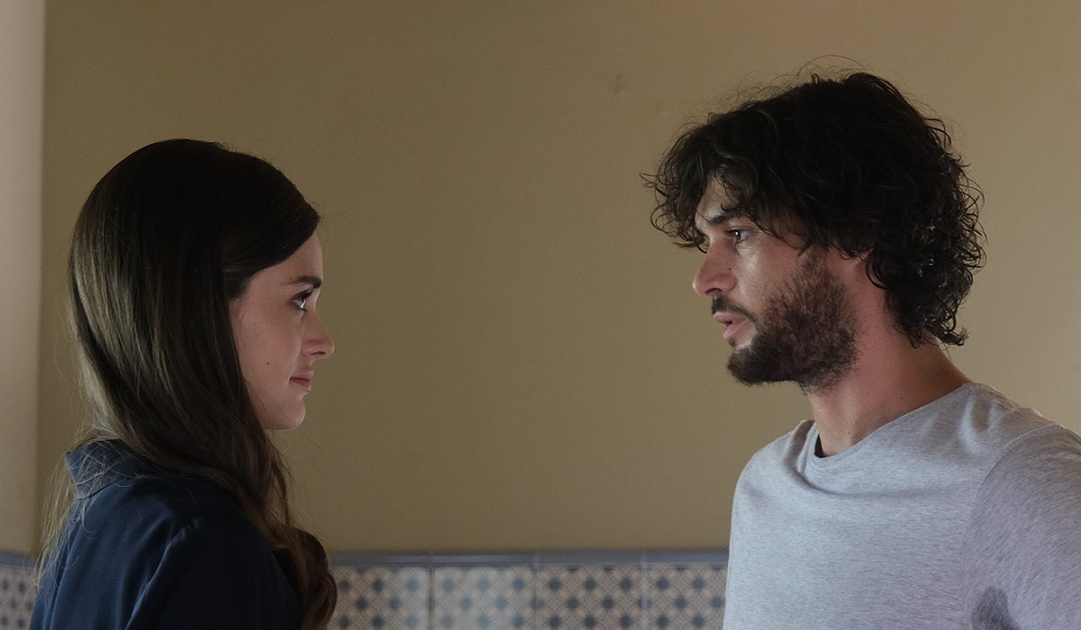 Elena Funari (Francesca) ed Erasmo Genzani (Armando) In Buongiorno Mamma. Credits: Mediaset