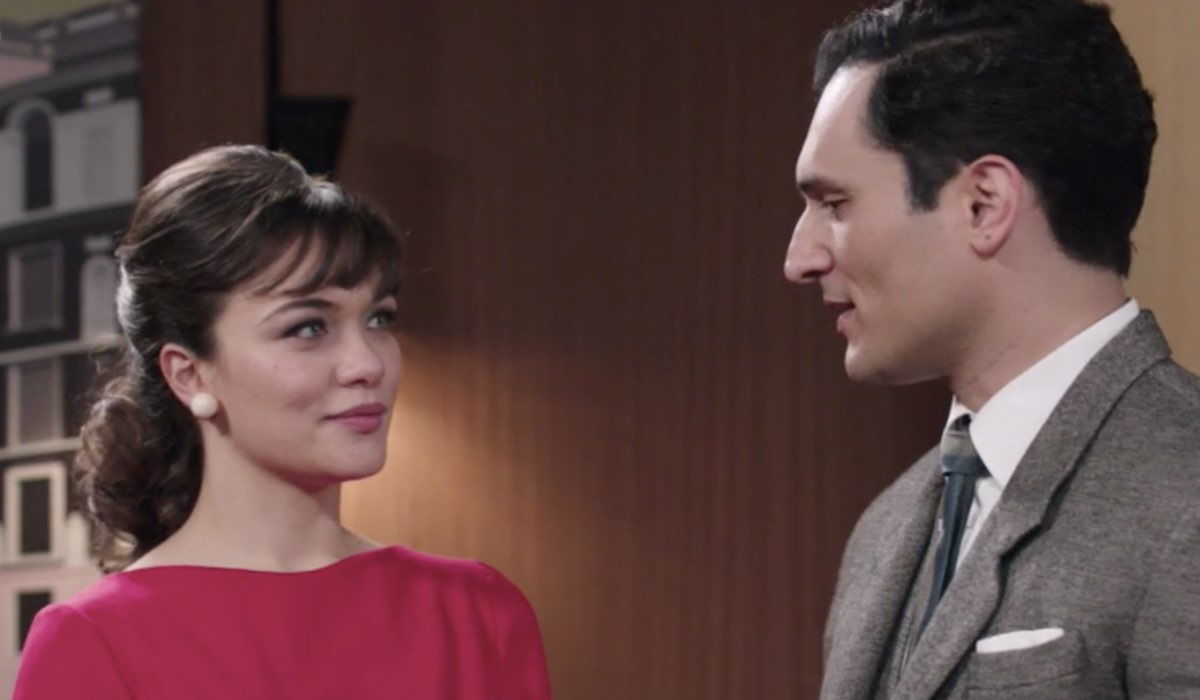 Il Paradiso Delle Signore 5, puntata 148: Marta Guarnieri e Vittorio Conti interpretati da Gloria Radulescu e Alessandro Tersigni. Credits: Rai