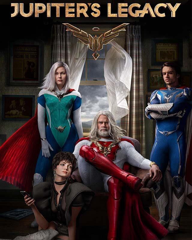 La locandina di Jupiter's Legacy. Credits: Netflix.