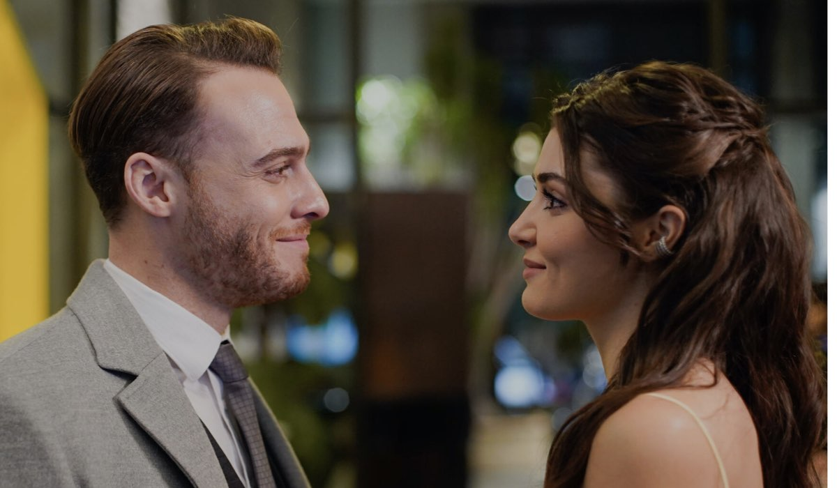 Love Is In The Air: Serkan Bolat interpretato da Kerem Bürsin e Eda Yıldız interpretata da Hande Erçel. Credits: Mediaset