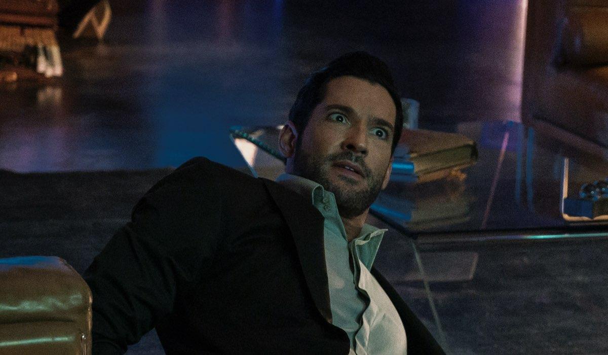 Lucifer 5, episodio 2: Tom Ellis interpreta Lucifer Morningstar. Credits: John P. Fleenor/Netflix © 2020