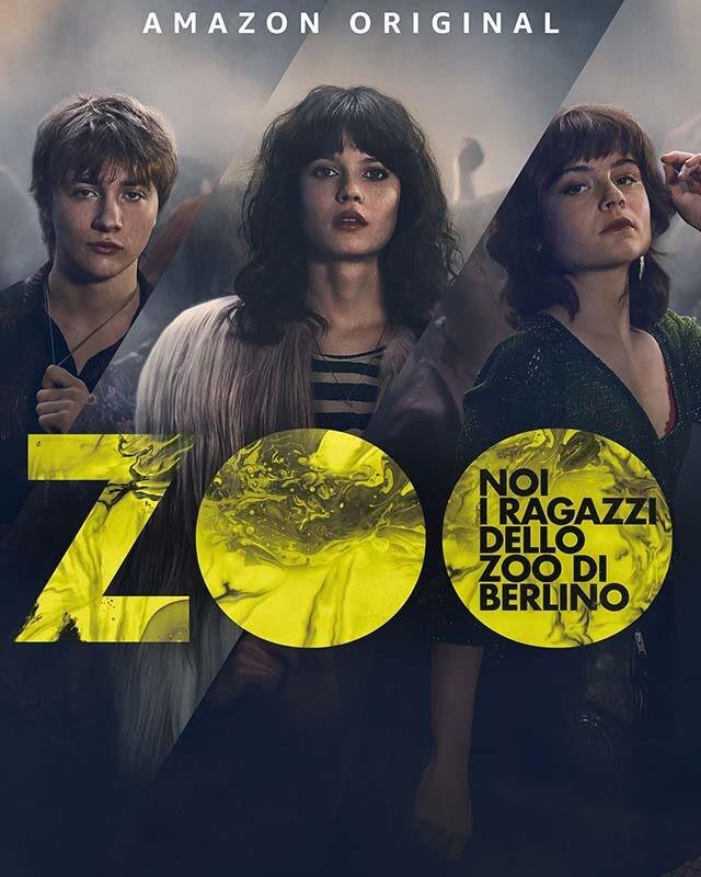 La locandina della serie TV Noi, i ragazzi dello zoo di Berlino. Credits: Amazon Prime Video.
