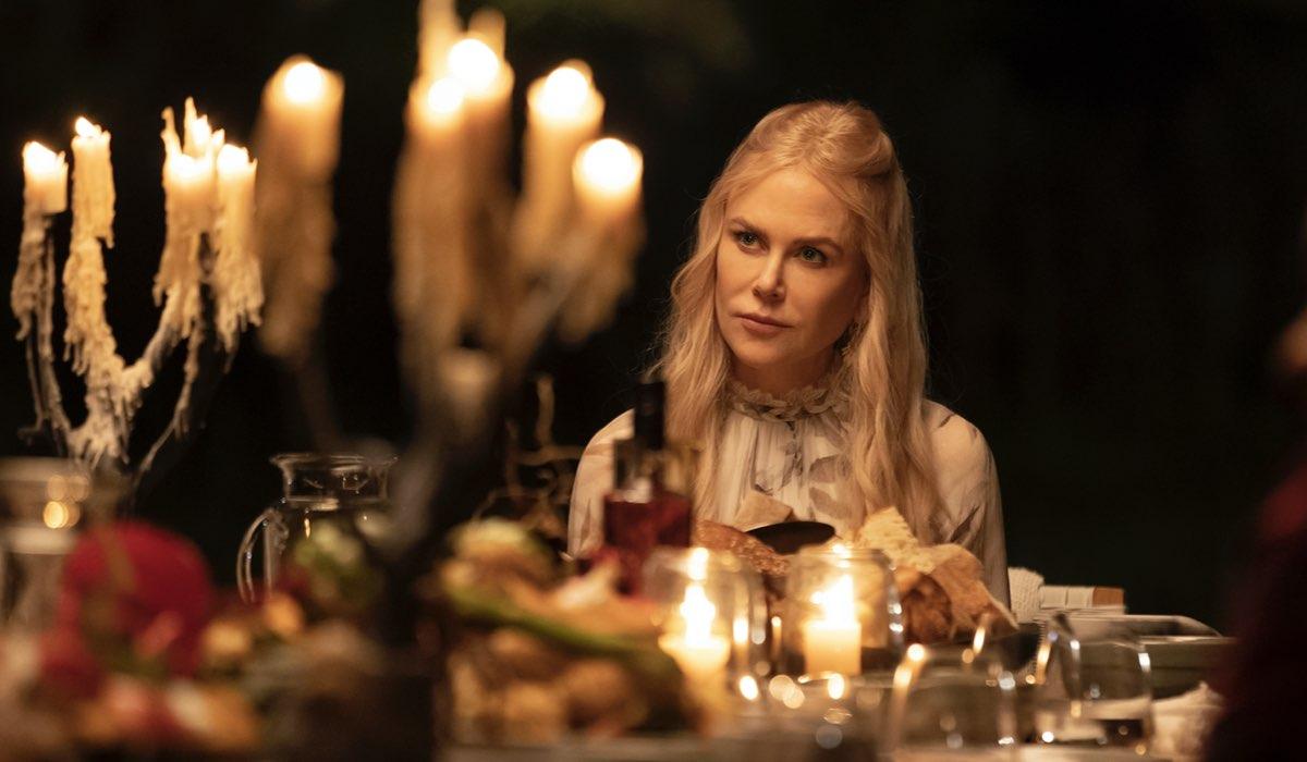 """Nicole Kidman in una scena di """"Nove Perfetti Sconosciuti"""". Credits: Amazon Prime Video."""