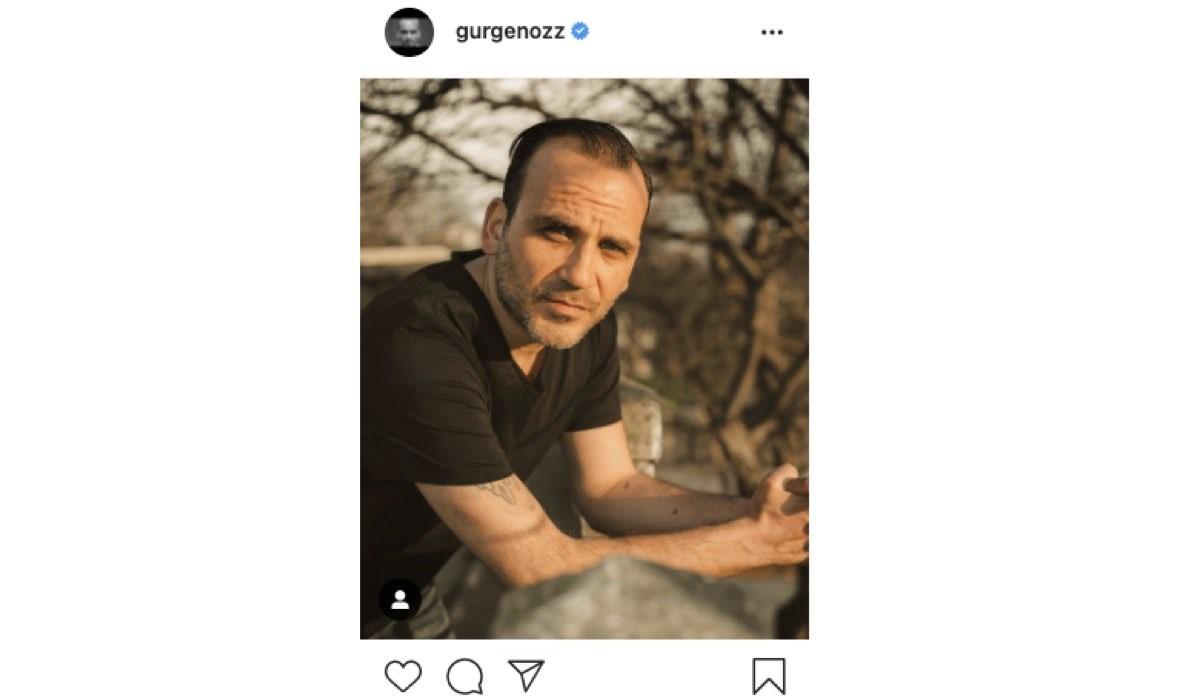 Screenshot di una foto di Gurge Oz (Levent Yazman in Mr. Wrong) condivisa sul Suo Profilo Instagram Ufficiale