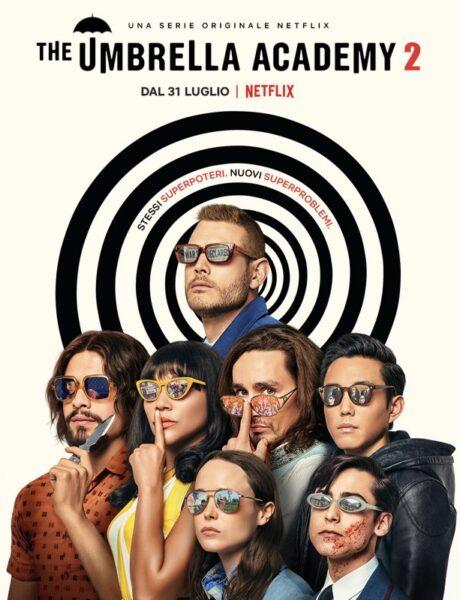 The Umbrella Academy, il poster della serie tv. Credits: Netflix.